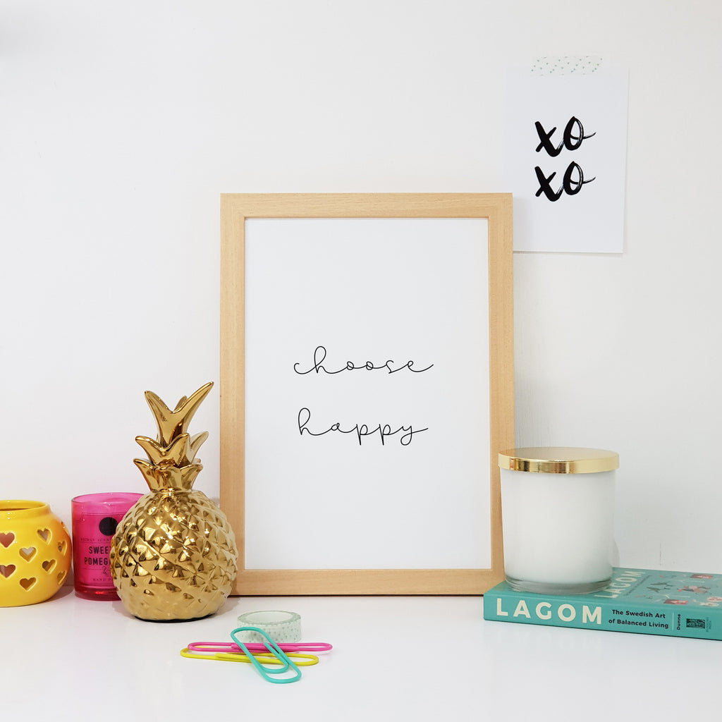 Choose Happy Wall Art Print