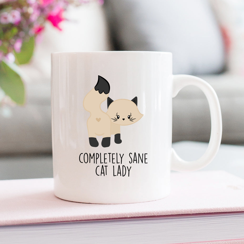 Completely Sane Cat Lady Cream Mug