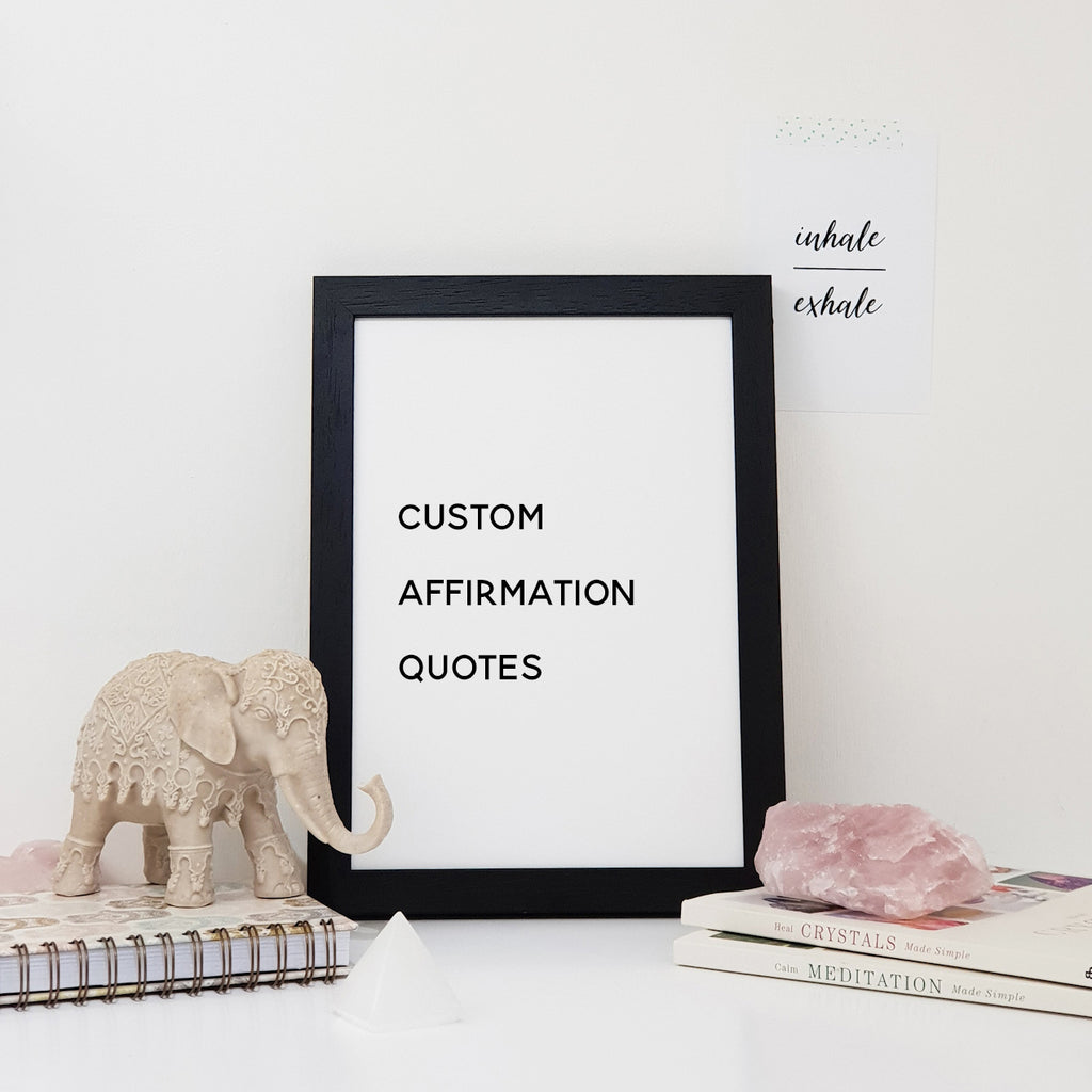 Custom Affirmations Wall Art Print