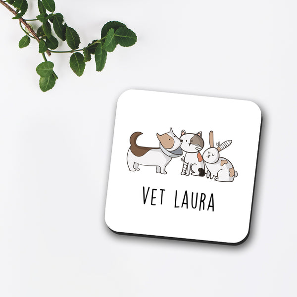 Custom Name Vet Coaster