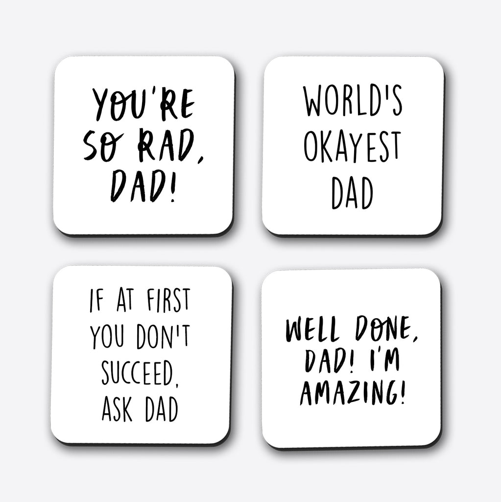 Father's Day Set of Set of 4 Coasters