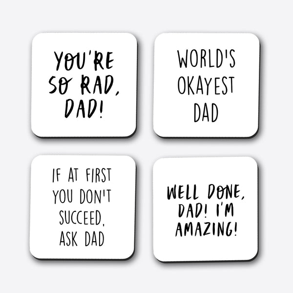 Father's Day Set of 4 Coasters
