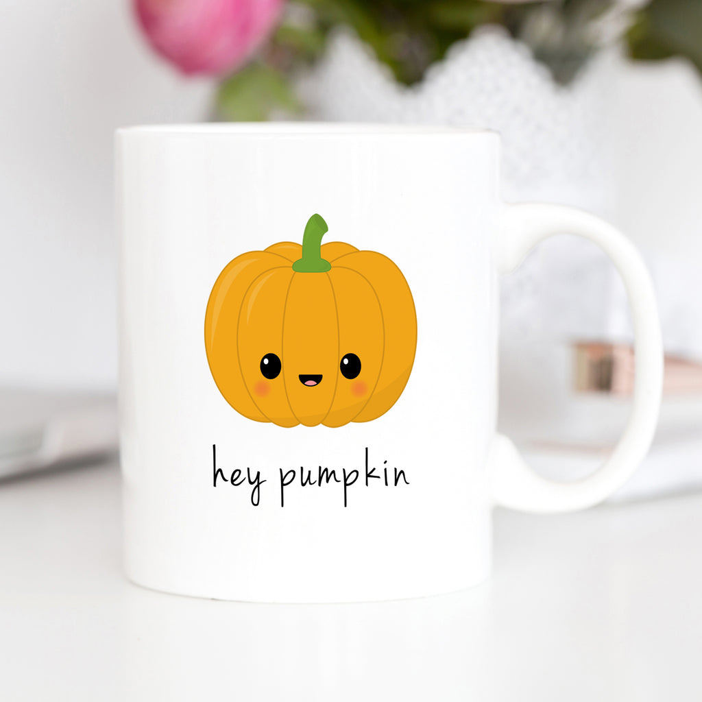 hey pumpkin mug hey pumpkin coaster halloween mug halloween coaster kawaii halloween cute halloween