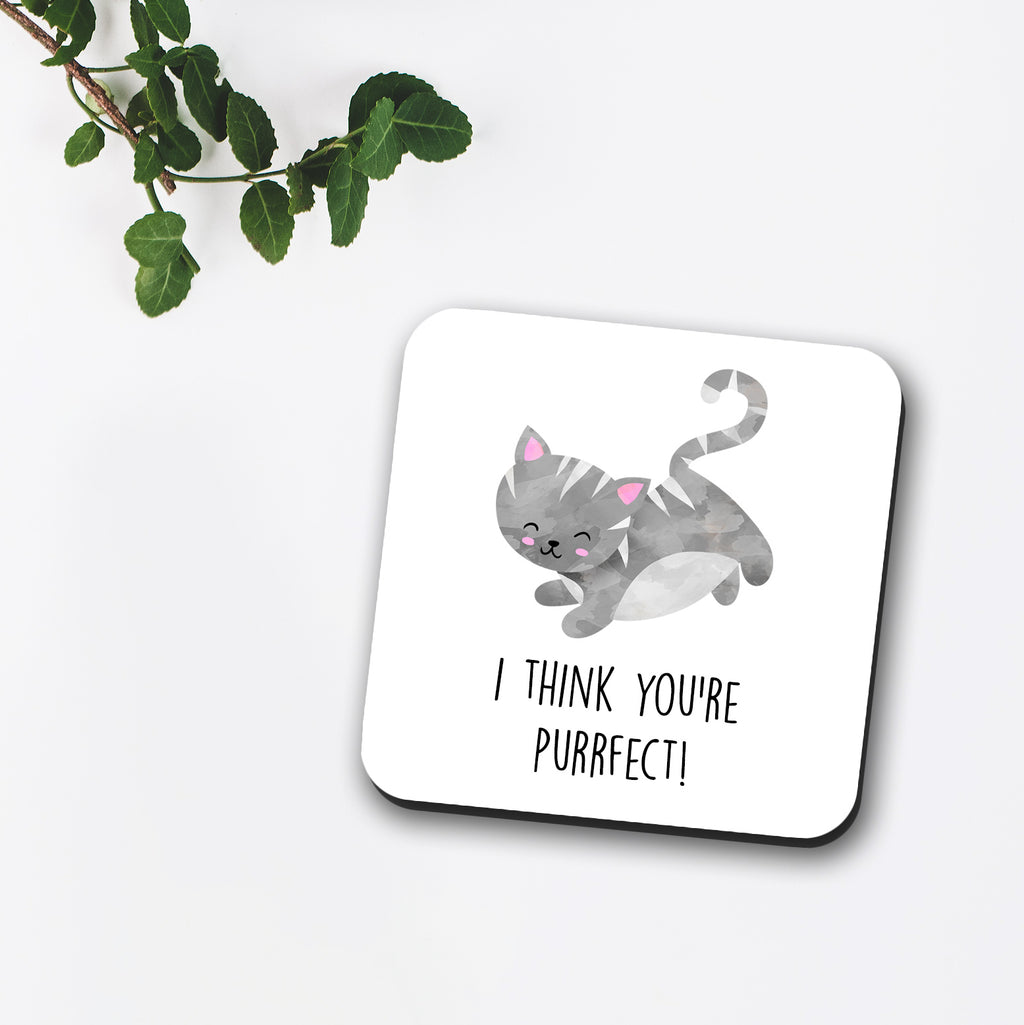I Think You're Purrfect Coaster