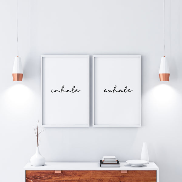 Inhale & Exhale Print Set