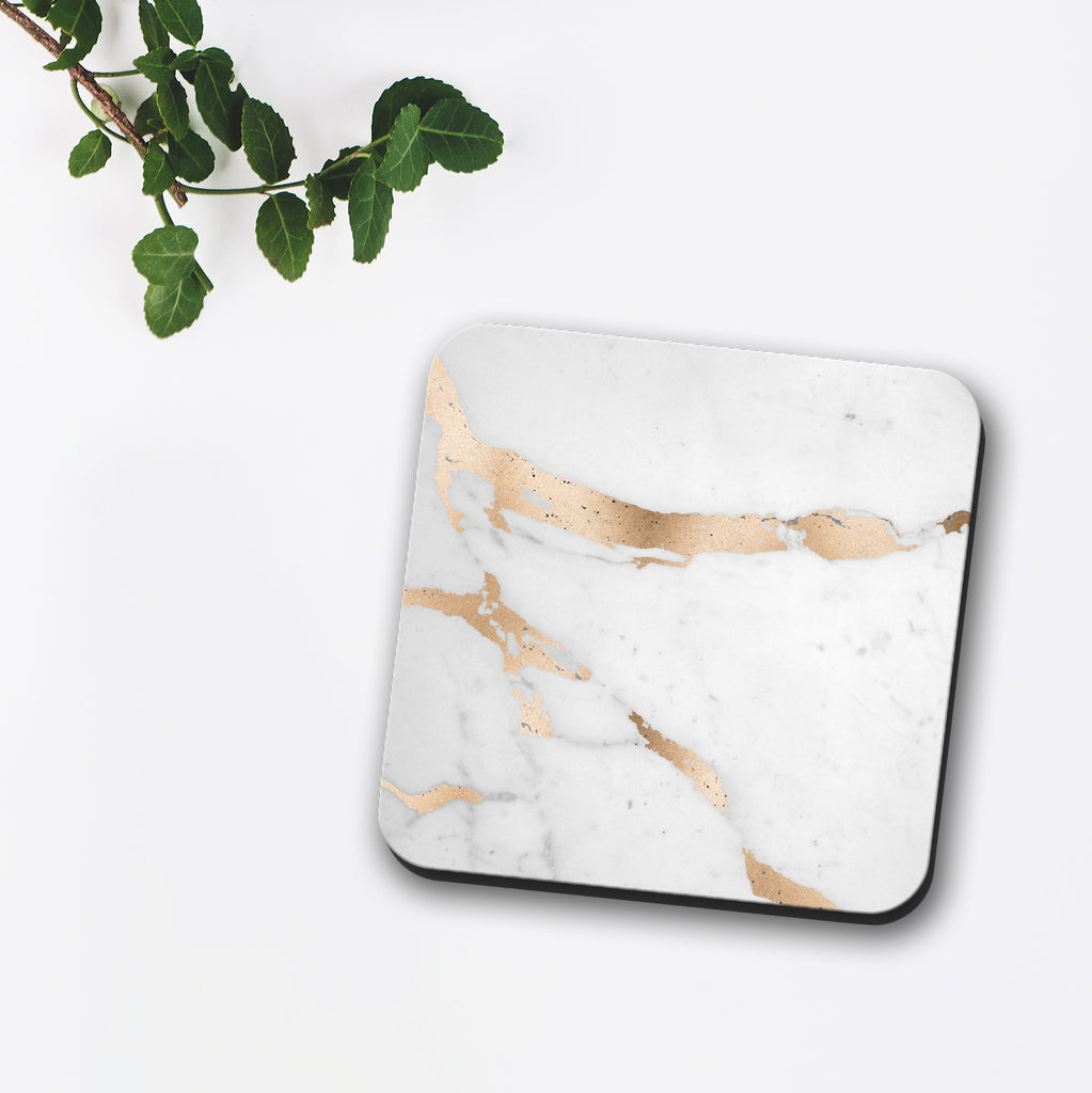 Rose Gold Marble Coaster