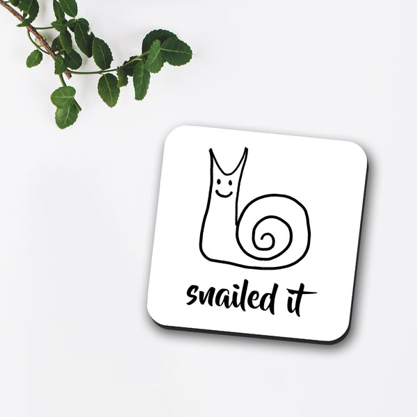 Snailed It Coaster