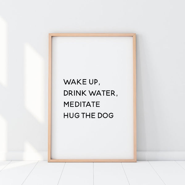 Daily Routine, Hug The Dog Print