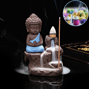 Creative Little Monk Backflow Incense Burner