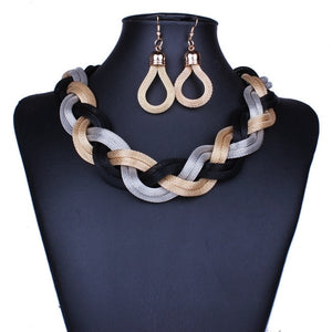 Mysterious Charming Necklace Earrings