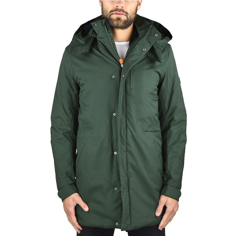 Parka SAVE THE DUCK D4344M Verde Militare Tessuto TWIN5