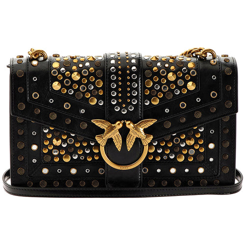 Borsa PINKO Classic Love Bag Icon New Studs con Borchie Nera