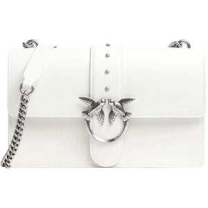 Borsa PINKO Classic Love Bag Icon Simply in Pelle Bianca