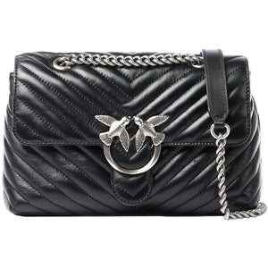 Borsa PINKO Lady Love Bag Puff V Quilt in Pelle Nera