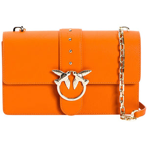 Borsa PINKO Love Bag Simply in Pelle Bottolata Arancio