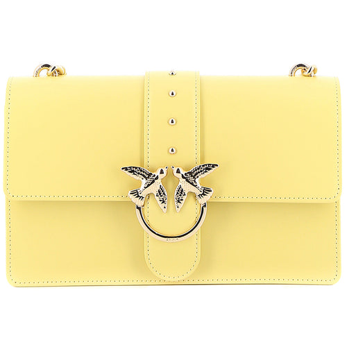 Borsa PINKO Love Bag Simply in Pelle Giallo Limone