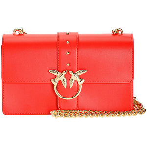 Borsa PINKO Love Bag Simply in Pelle Rossa