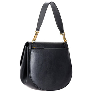 Borsa PINKO Love Big Go-Round Bag Soft Bubbles in Pelle Bottolata Nera