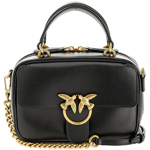 Borsa PINKO Love Mini Square Bag Simply in Pelle Nera