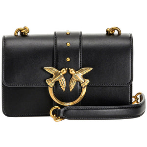 Borsa PINKO Mini Love Bag Icon Simply in Pelle Nera