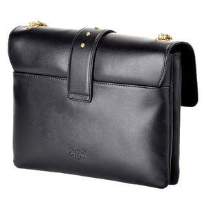 Borsa PINKO Big Love Simply Tracolla in Pelle Nera