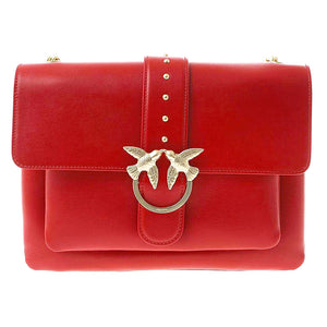 Borsa PINKO Big Love Simply Tracolla in Pelle Rossa