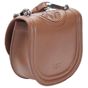 Borsa PINKO Round Love Bag New Monogram Cuoio