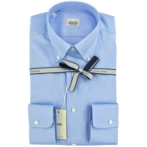 Camicia GHERARDI Button Down in Oxford Celeste