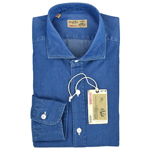 Camicia BARBA Napoli Dandylife in Cotone Denim