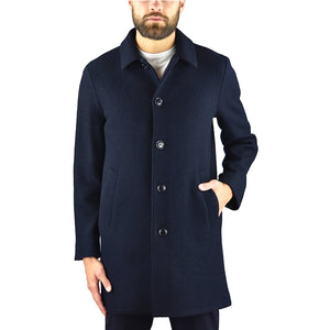 Cappotto ASPESI Virtuoso in Lana Cotta Blu