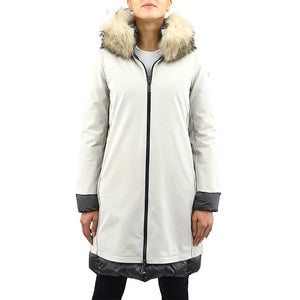Cappotto Piumino RRD Light Winter Coat Lady Fur T Gesso