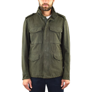 Field Jacket ASPESI Mini Field Cot in Raso di Cotone Verde