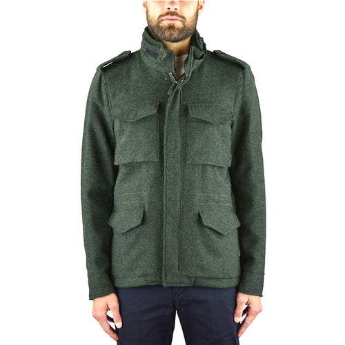 Field Jacket ASPESI Minifield in Harris Tweed Verde Militare