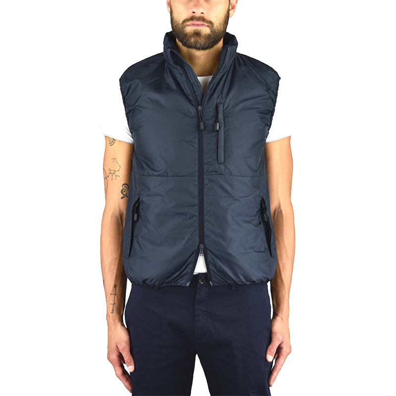 Gilet ASPESI Jil in Nylon e Thermore Blu