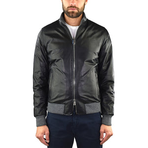 Giubbotto BARBA Napoli Fox Rev in Pelle Nero