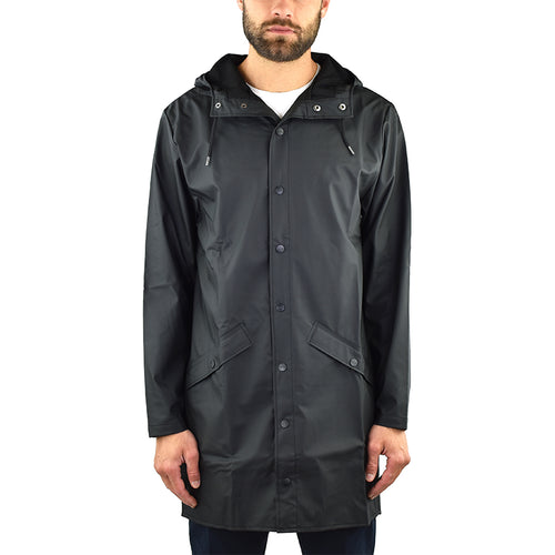 Impermeabile RAINS Long Jacket Nero