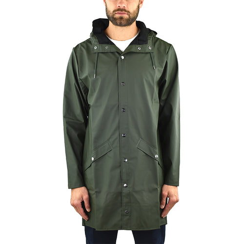 Impermeabile RAINS Long Jacket Verde Militare