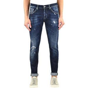 Jeans DONDUP Ritchie UP424 Lavaggio Medio Scuro Rammendato