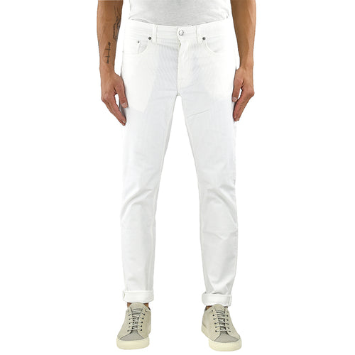 Jeans DEPARTMENT 5 Keith in Velluto Bianco Latte