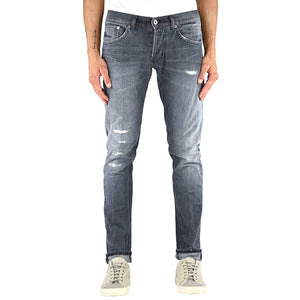 Jeans DONDUP Ritchie UP424 Grigio Medio Strappato