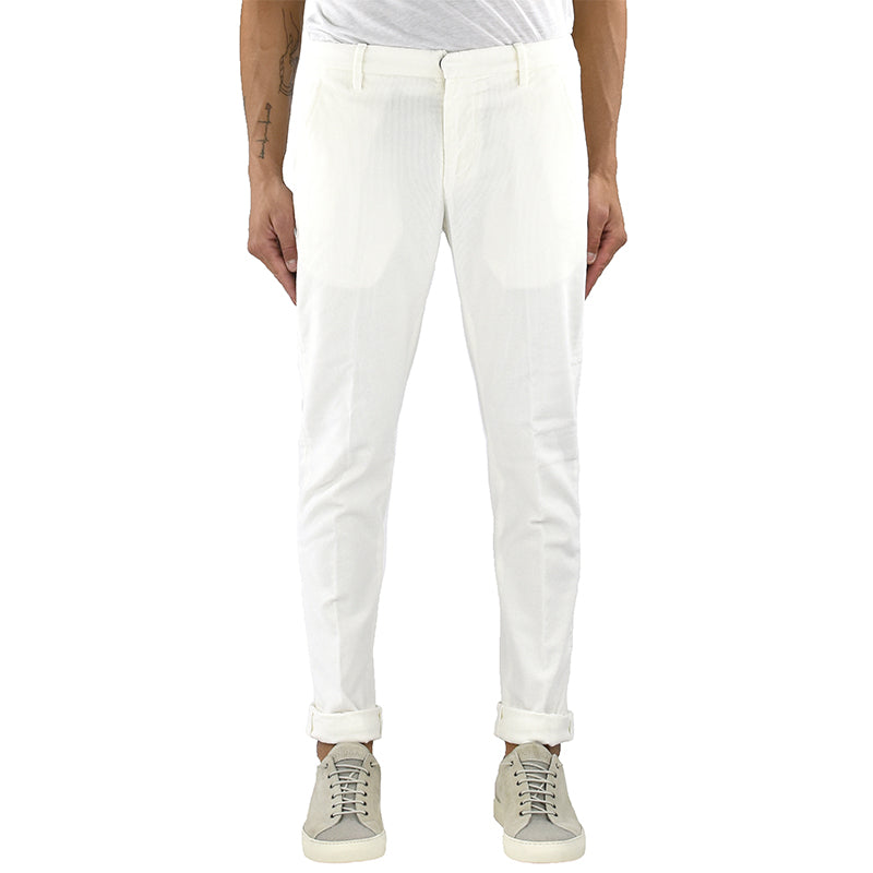 Pantalone DONDUP Gaubert UP235 in Velluto Bianco Latte