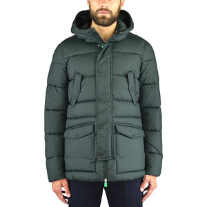 Piumino Parka SAVE THE DUCK D3014M Warm7 Verde Oliva