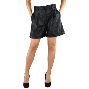Short PINKO Crociata in Eco Pelle Nero