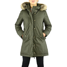 WOOLRICH W'S Tiffany Parka Verde Militare