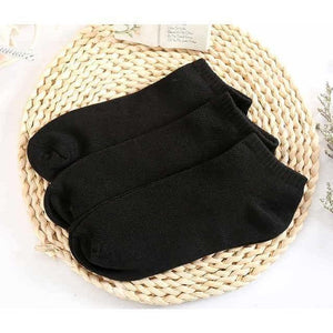10Pair Solid Mesh Breathable Invisible Ankle Socks-Accessories-Sour Grapes Online-Black-