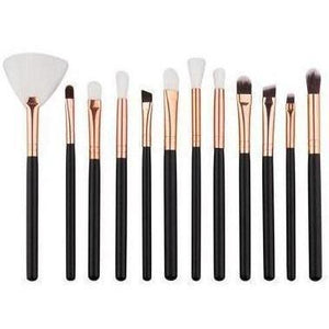12pcs Pro Makeup Brushes Set Foundation Powder Eyeshadow Eyeliner Lip Brush Tools Highlighter Makeup Brushes Pincel Maquiagem-MakeUp Brushes-Sour Grapes Online-