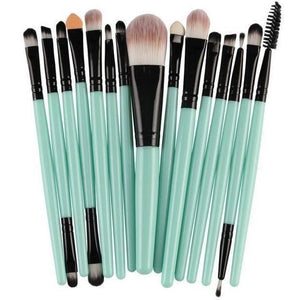 15 Pcs Pro Cosmetic Makeup Brush Pincel Maquiagem Blue Set-MakeUp Brushes-Sour Grapes Online-GB-