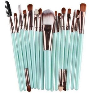 15 Pcs Pro Cosmetic Makeup Brush Pincel Maquiagem Blue Set-MakeUp Brushes-Sour Grapes Online-GC-