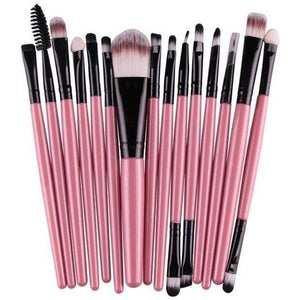 15 Pcs Pro Cosmetic Makeup Brush Pincel Maquiagem Pink Set-MakeUp Brushes-Sour Grapes Online-PB-