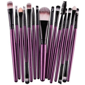 15 Pcs Pro Cosmetic Makeup Brush Pincel Maquiagem Purple Set-MakeUp Brushes-Sour Grapes Online-ZB-